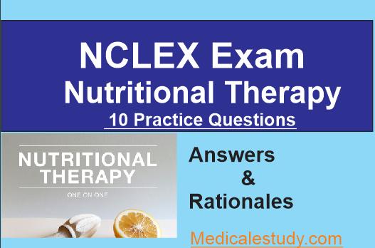 Nutrition NCLEX Practice Questions